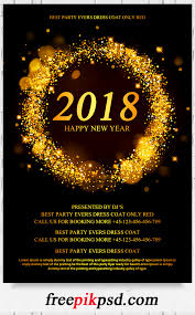 2018 new year flyer psd template pik psd new year party flyer