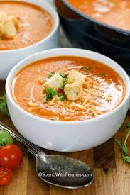 Homemade <b>Tomato Soup</b> (Fresh Tomatoes) {Easy & Fast} - Spend ...