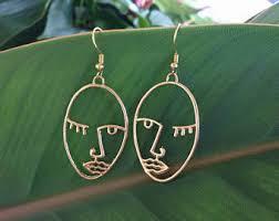 <b>Face earrings</b> | Etsy