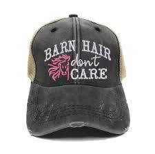 Barn <b>Hair Don't Care</b> Custom Trucker Hats For Women <b>Funny</b>   Etsy