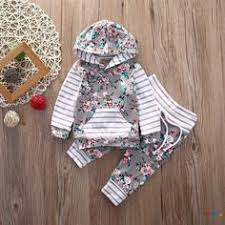 <b>US Stock Toddler</b> Kid Baby Girl Hooded Tops Leggings Outfit Set ...