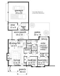 13 best one story homes images on pinterest ranch house plans Southern House Plans One Story 1292 sf first floor plan image of clifton 1224 house plan one story house plans southern living