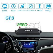 Ma Way <b>HUD Head</b> Up Display OBD Car System Speeding Warning ...