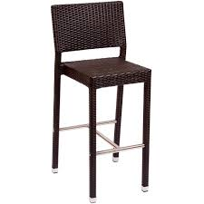 bar height patio chair: bfm seating phbjv monterey outdoor indoor java synthetic wicker bar height chair