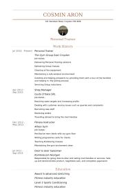 personal trainer resume samples   visualcv resume samples databasepersonal trainer resume samples