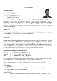 cv   sr  executive  sales  amp  marketingcurriculum vitae mohammad abid cell no       e mail  md