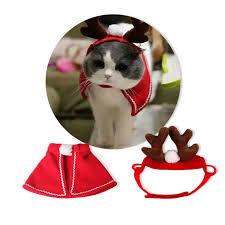 idYllife <b>Cat Costume Christmas</b> Gift Santa for Pet Reindeer ...