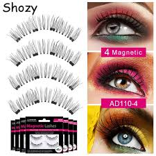 <b>Shozy Handmade</b> magnetic eyelashes with 4 magnets 3D magnetic ...