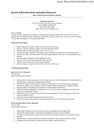 sample resume senior administrative assistant resume example with professional experience sample microsoft word professional resume examples executive assistant
