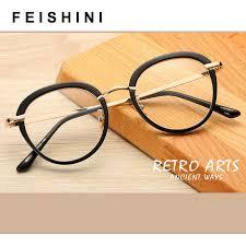 <b>FEISHINI Transparent Frame Cat</b> Eye Glasses Frame Women brand ...