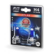 Галогенная <b>лампа AVS ATLAS</b> /5000К/ H4.12V.60/55W. 2шт.