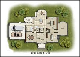 Color D Graphics   Floor Plans    House floor plan in color