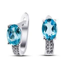 <b>Серьги</b> из серебра c голубым топазом <b>silver</b>-<b>wings</b> 227187-190