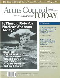 years of history and accomplishments redesigned and current arms control today cover issue 2005