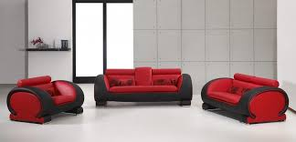2811 living rom set in red and black black and red furniture