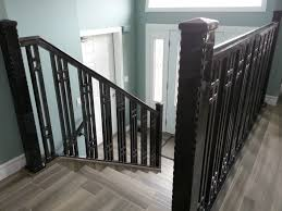 Custom Stair Railing Stair Rails Hand Rails Windsor Ontario Sunset Metal Fab Inc