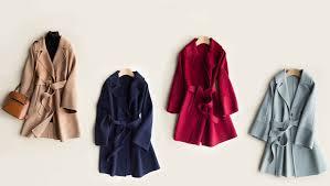 AYUNSUE 100% <b>Wool</b> Coat Women 2019 Autumn Winter <b>Double</b> ...