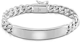 Amazon.com: Classic Men's Silver Jewelry Bracelet <b>100</b>% <b>925</b> ...
