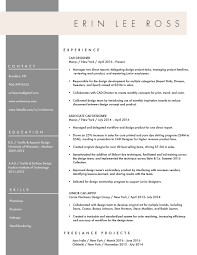 resume erin lee ross work middot about middot resume