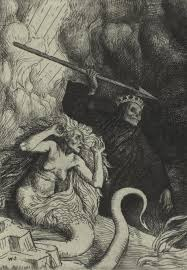 biblion frankenstein essay moeck ldquosin and death at the gates of hell rdquo an illustration from paradise lost by john milton a series of twelve illustrations 1896