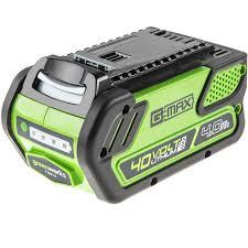 Батарея аккумуляторная <b>Greenworks G</b>-<b>MAX</b> G40B4 купить по ...