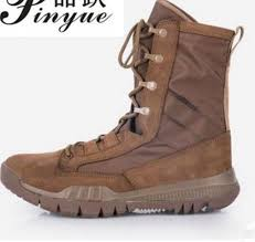 <b>Spring Autumn</b> High Tube Leather Breathable <b>Military Tactical</b> Boots ...