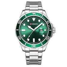 <b>Curren 8388 Men Large</b> Dial Calendar Quartz Watch Business Steel ...