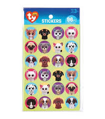 Darice <b>96pcs</b> TY Beanie Boos Stickers-Pet | Beanie boos, Ty beanie ...