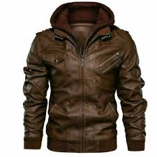 <b>Leather Hooded Coats</b> & <b>Jackets</b> for <b>Men</b> for sale | eBay