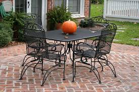 wrought iron patio furniture dining table antique rod iron patio