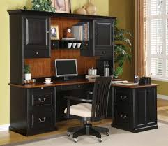 cool furniture wooden l shaped desk with hutch design in black with drawer and computer stand awesome shaped office desk