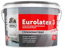 <b>Краска</b> латексная Dufa <b>Retail Eurolatex 3</b> матовая — купить по ...