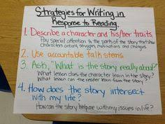 literary essay  comparing two stories  middle school   analyzing  strategies for writing about reading chart   writers workshop lucy calkins literary essays unit