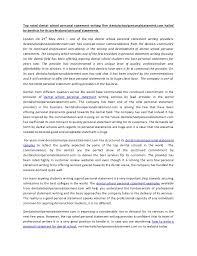 Sample Personal Statement of Purpose for Graduate School
