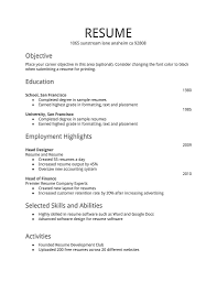 resume for part time job resume template resume objective part  the most resume for a job example