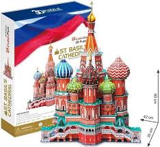 3D пазл <b>Cubic Fun Собор Василия</b> Блаженного Россия MC093h ...