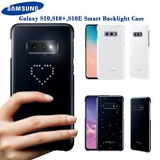 Samsung Galaxy S10 Plus LED Back Phone Cover White
