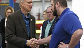 herald home rauner touts jobs opposes tax hikes during quincy