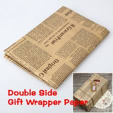 online get cheap newspaper wrapping paper com random color 52x75cm wrapping paper artware packing package paper christmas kraft paper vintage newspaper gift wrap