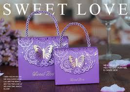 <b>20 pcs</b>/<b>lot</b> Wedding candy <b>box</b> creative hollow carved fold butterfly ...