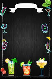 <b>Black</b> Vector Illustration <b>Summer</b> Cocktail Poster Background ...