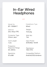 <b>KUULAA Sport Earphone In</b> Ear Earphones Bass Wired Headset 3.5 ...