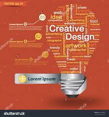 creative light bulb creative design concept stock vector 132903083 creative light bulb creative design concept of word cloud vector illustration modern template design