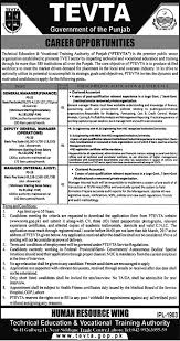 jobs in technical education vocational training authority lahore jobs in technical education vocational training authority lahore punjab 2017