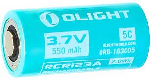 """<b>Аккумулятор</b> для фонаря <b>Olight</b> """"<b>ORB</b>-<b>163C05</b>"""", 16340, <b>Li</b>-<b>ion</b>, 3,7 ..."""