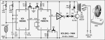 fan on off control by light circuit diagram   electronic circuits    fan on off control by light circuit diagram