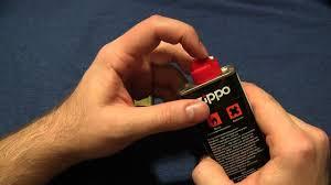 заправка <b>зажигалки Zippo</b> - YouTube