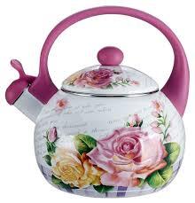 Metalloni <b>Чайник со свистком</b> Чайная роза <b>2.5</b> л — купить по ...