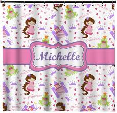 princess print shower curtain personalized potty patty princess print shower curtain personalized