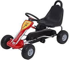 HOMCOM Kids Ride <b>Pedal Go-kart</b> Gokart Go Kart Pedal Outdoor ...
